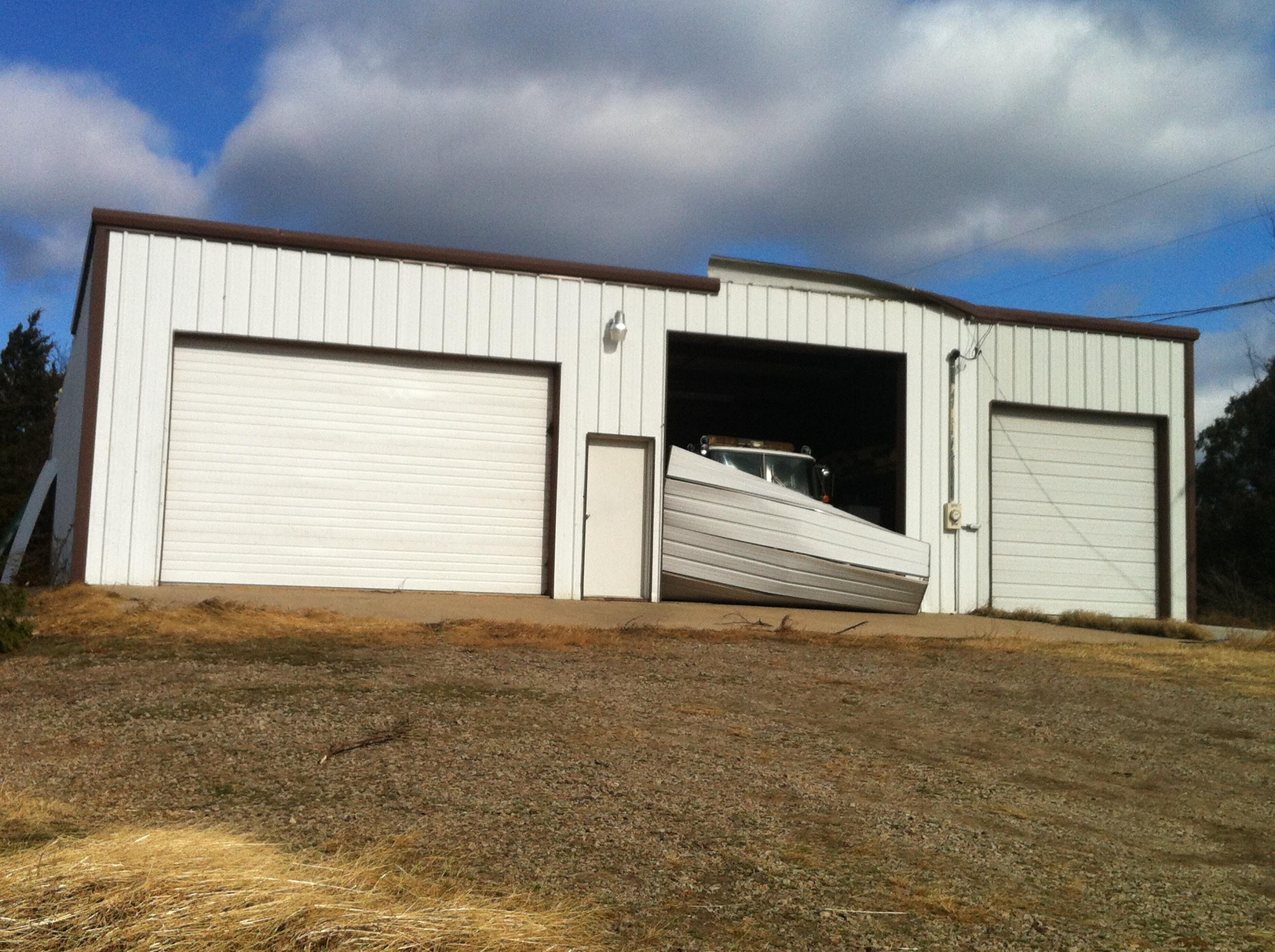 Tornado damage in Sebastian County