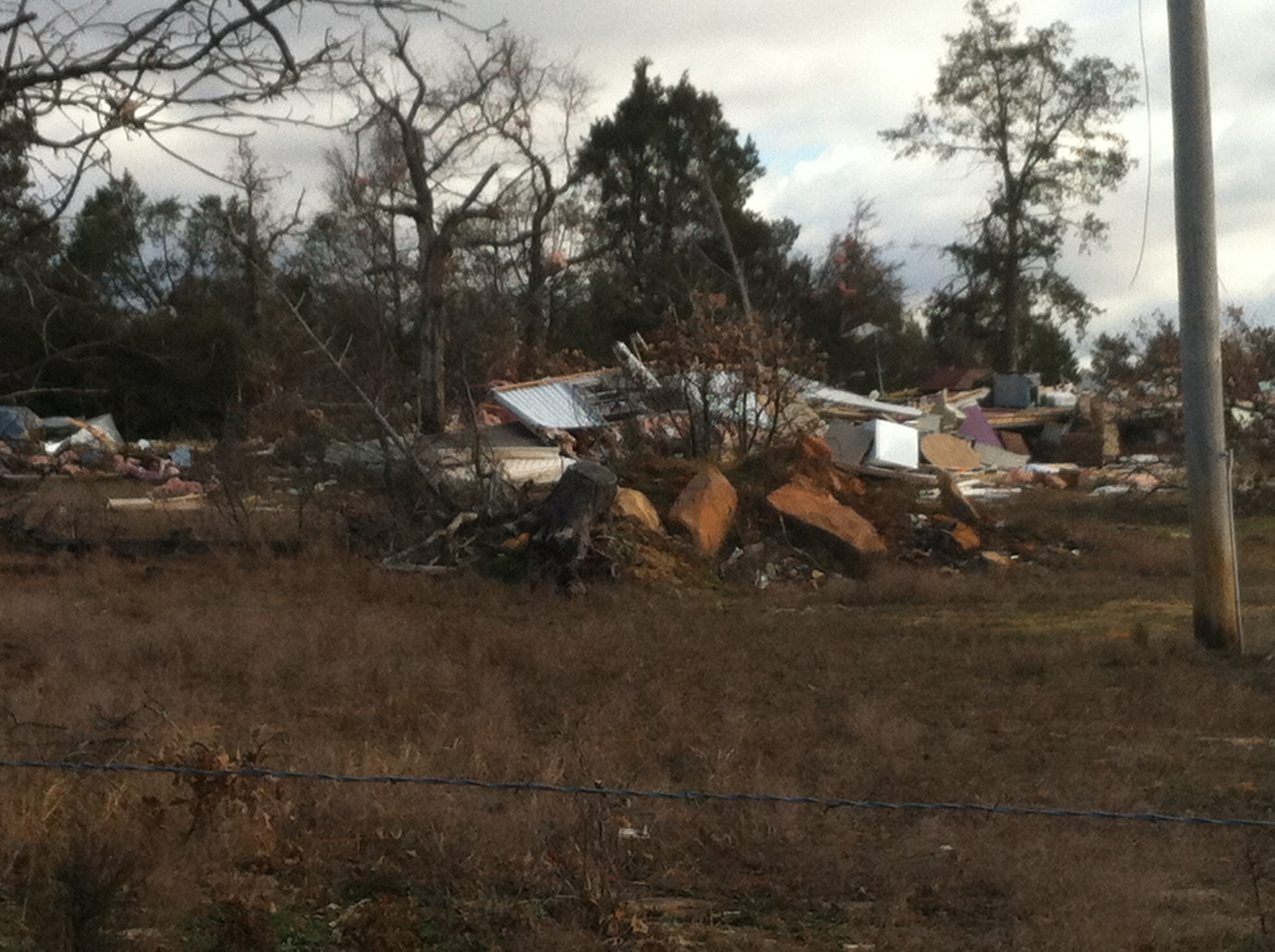 Tornado damage in Sebastian County