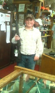 Ethan Kimball, 12, wins first place.