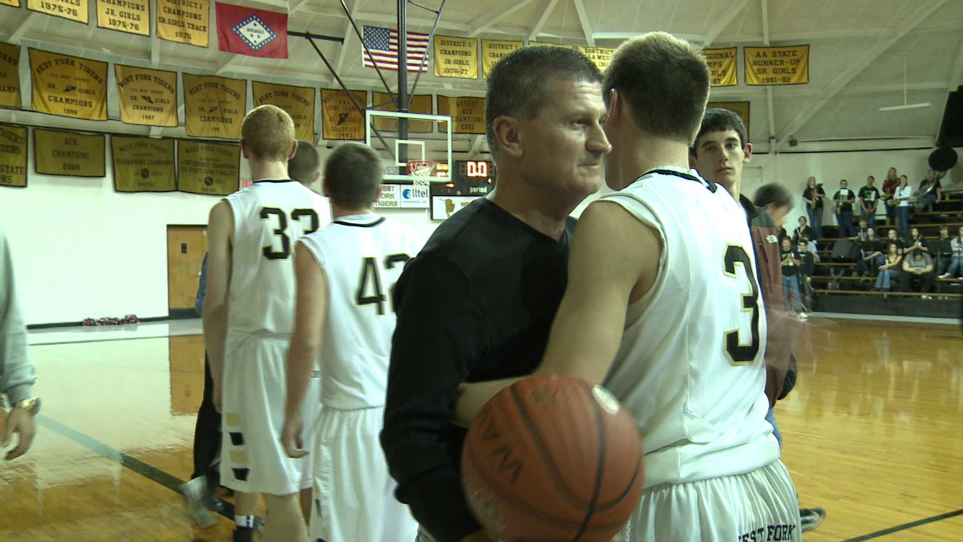 West Fork Basketball Coach David Ferrell's 500th career victory