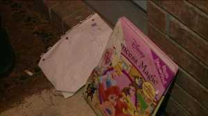 A note and a princess book was left at Reagan's doorstep.