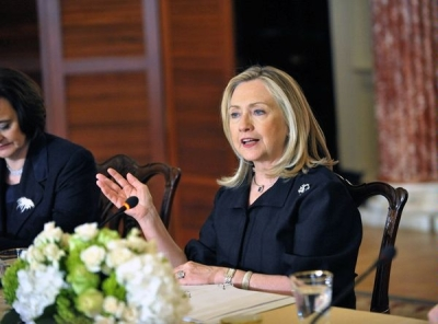 Clinton attends inaugural meeting of the International Council on Women's Business Leadership