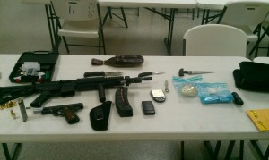 Weapons, drugs,  paraphernalia found in Arreola's car