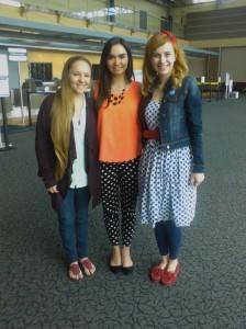 Teah Lorrain Flynn, 15, Camila Restrepo-Botero, 18, and Haley Zega, 18.
