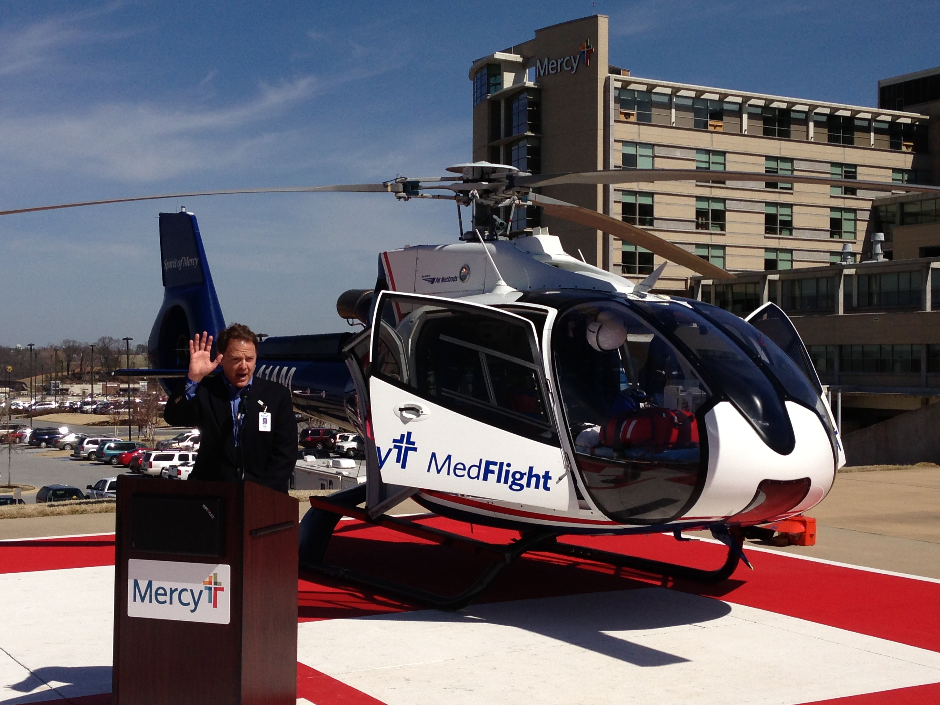 new mercy helicopter