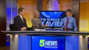 "5NEWS Anchors Daren Bobb and Heather Lewis interview teen author John Ashley about his ""Xavier Series."""