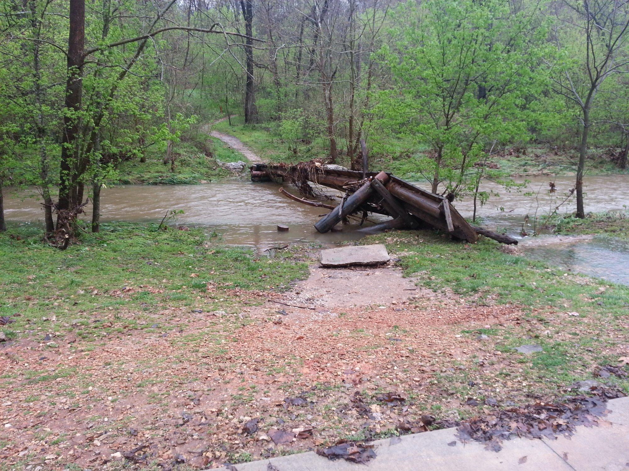 Bentonville Trail Damage