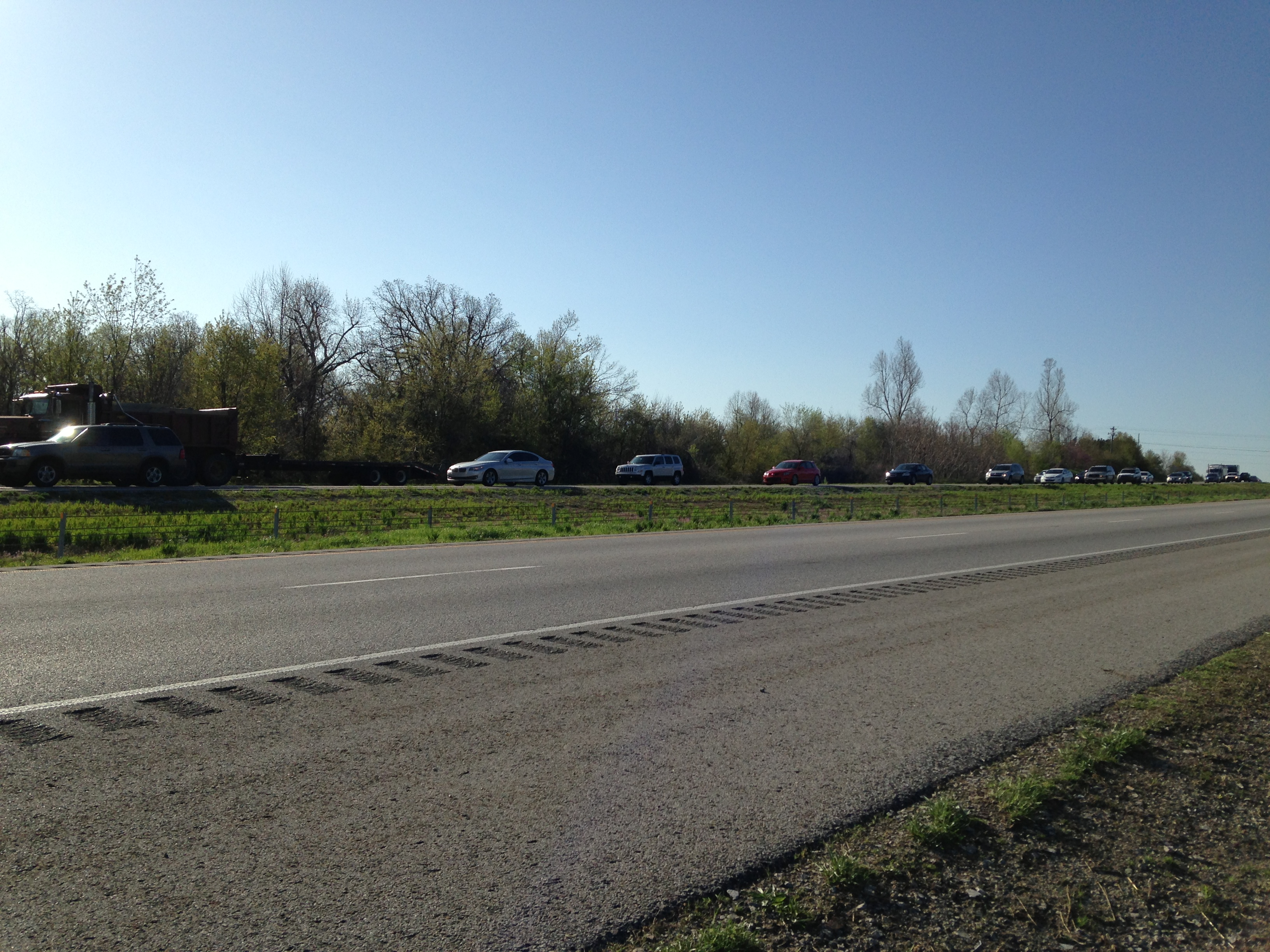 I-540 Northbound, Traffic Delays  Couresy: Micah Delacey, 5NEWS Photographer