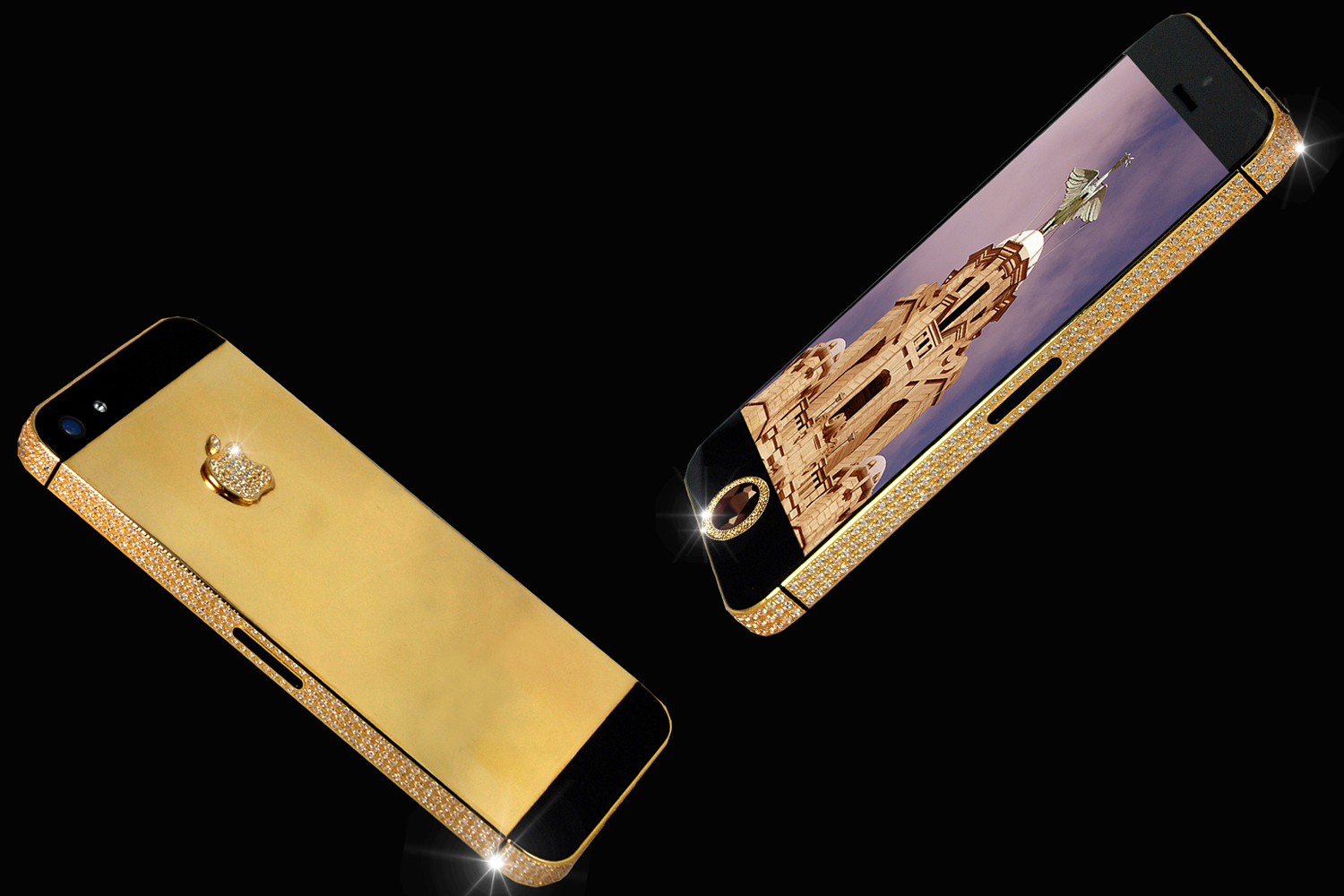 """A businessman from Hong Kong commissioned craftsman Stuart Hughes of Liverpool to help him show off his family treasure.  The result? An iPhone 5 boasted by Hughes to be """"the world's most expensive phone,"""" valued at $15 million."""