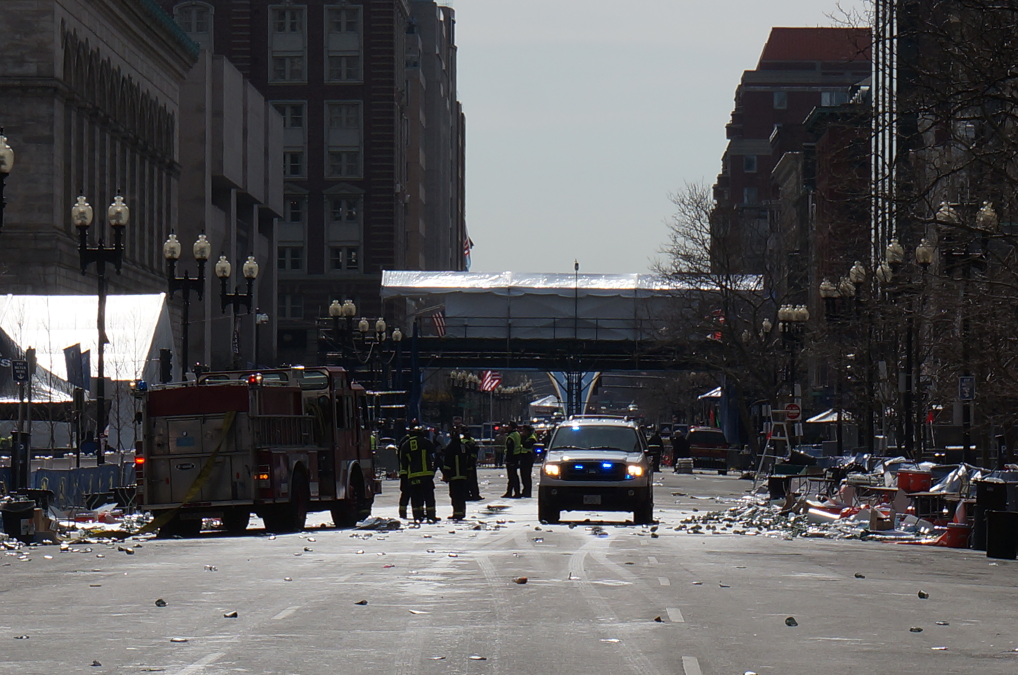 Aaron Tang took pictures overlooking the scene of the first bomb explosion at the 2013 Boston Marathon.