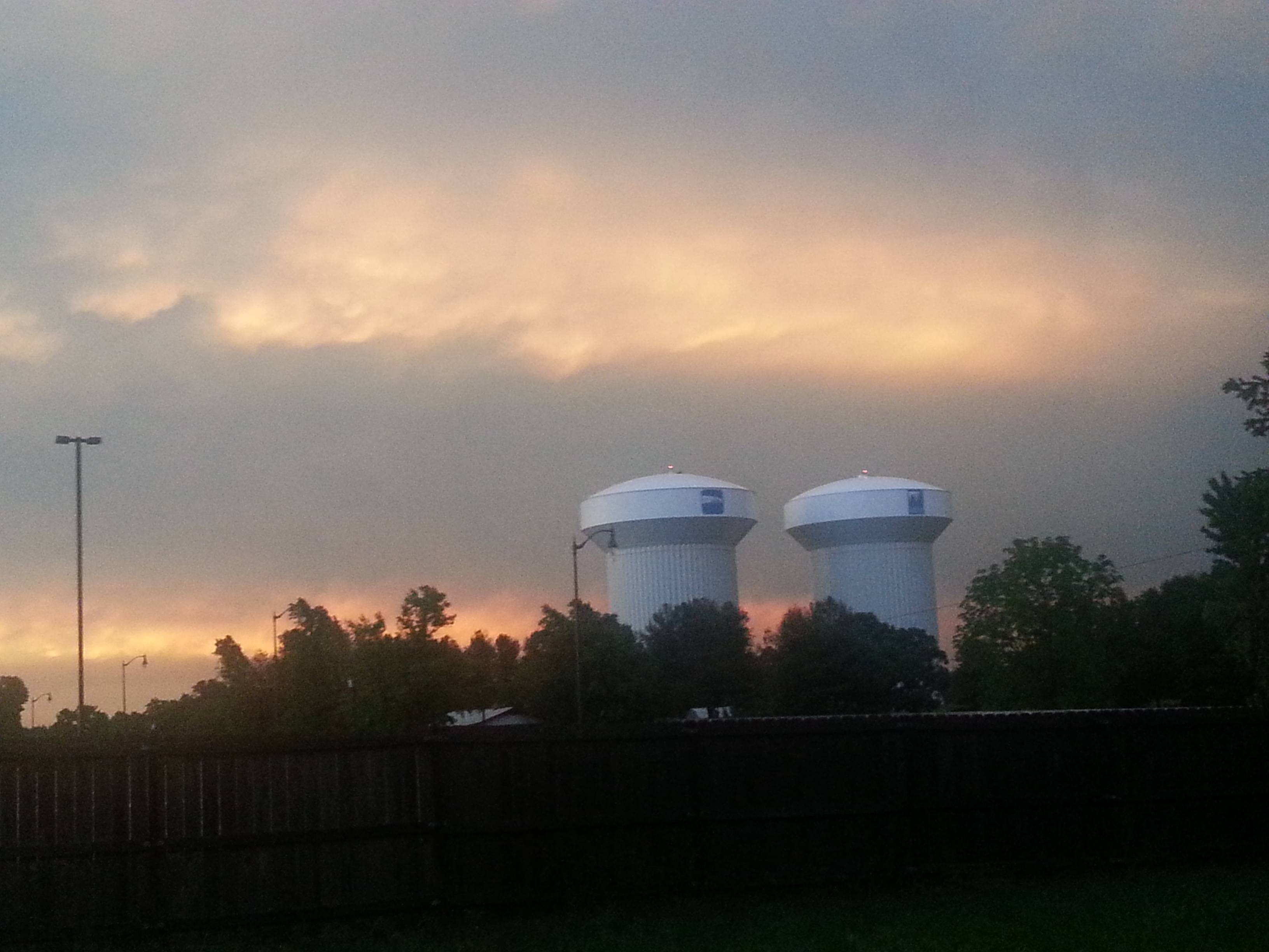 Taken after the storm pushed through Rogers 5-20. Beautiful skies...looking North