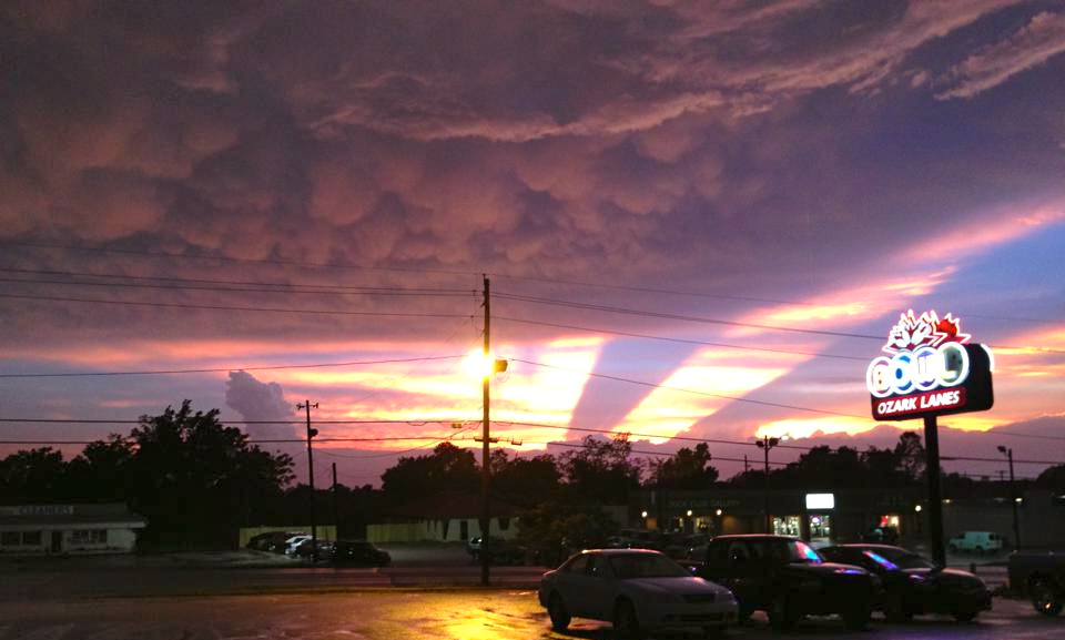 A view of the sky after the storm Monday Evening from work