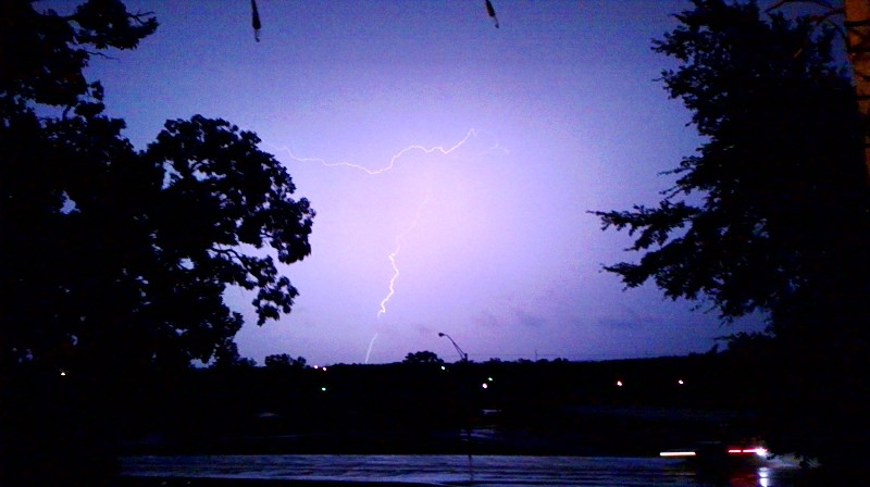 lightning strike in poteau during the tornado sirens tonight.. hope you like robin.