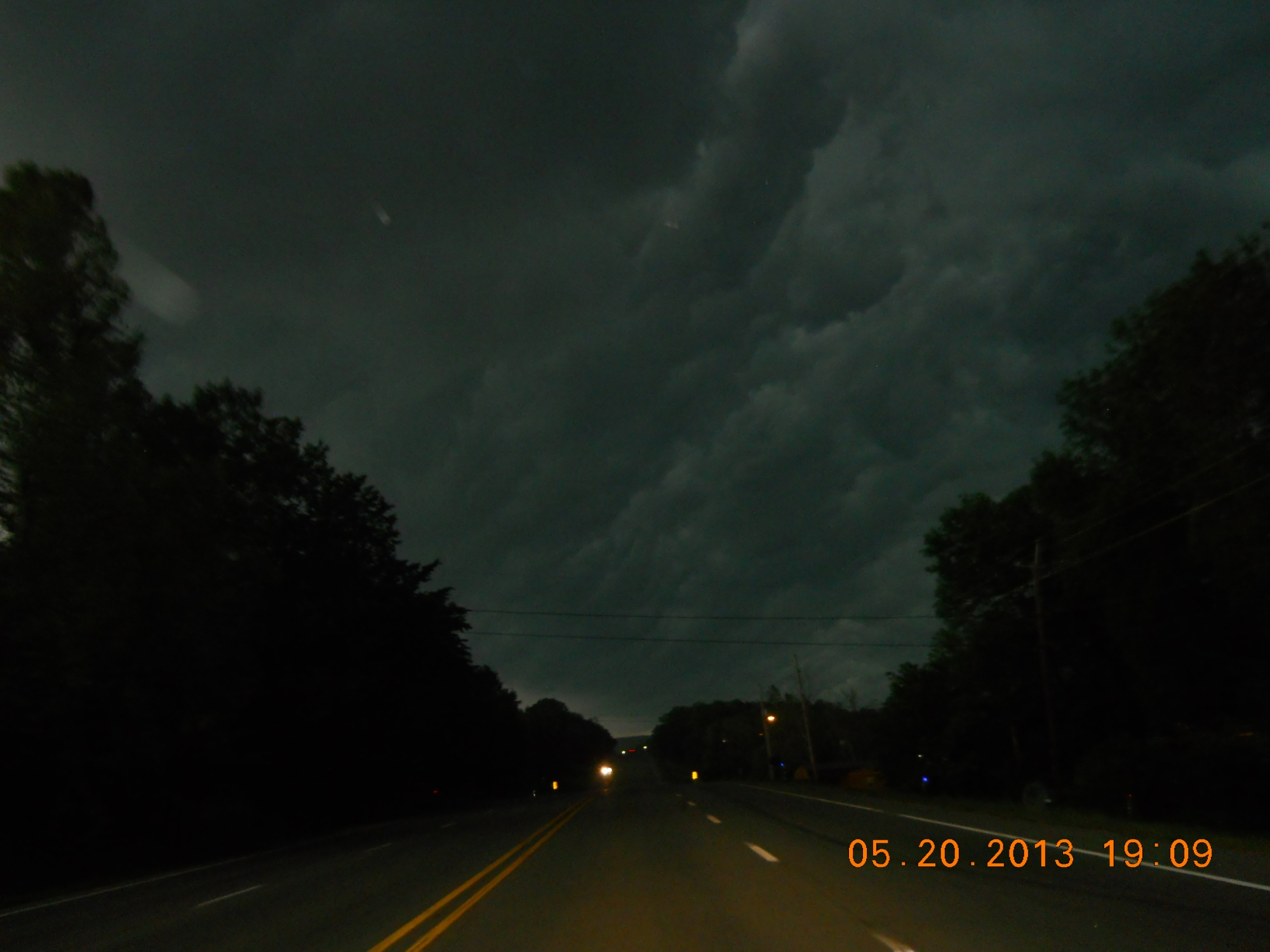 These crazy looking clouds were seen going into West Fork (heading s71b) near where I live around 7:15pm