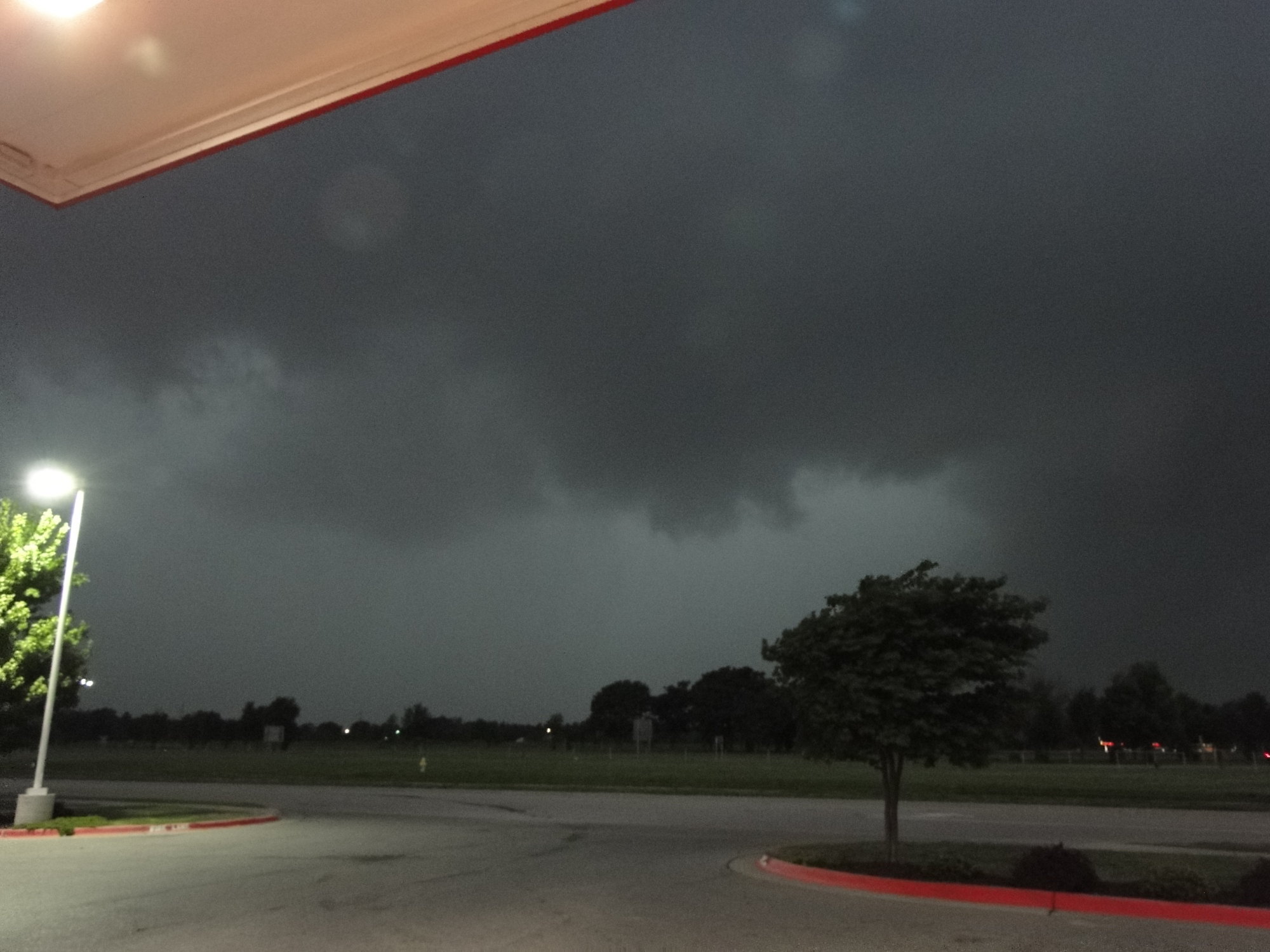 Possible Wall Cloud yesterday evening May 20, 2013 around 7-7:15pm. Interstate 540 and Elm Springs Road Exit.