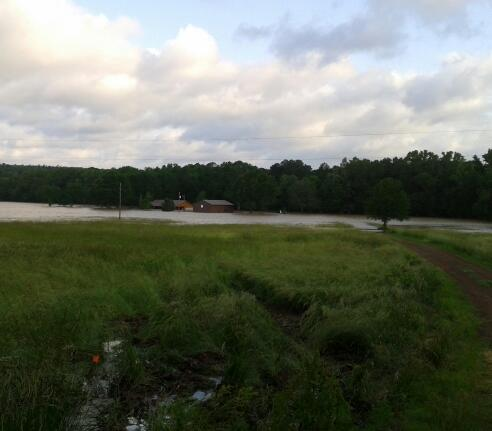 LeFlore County Flooding in Haw Creek area from Alicia Allen