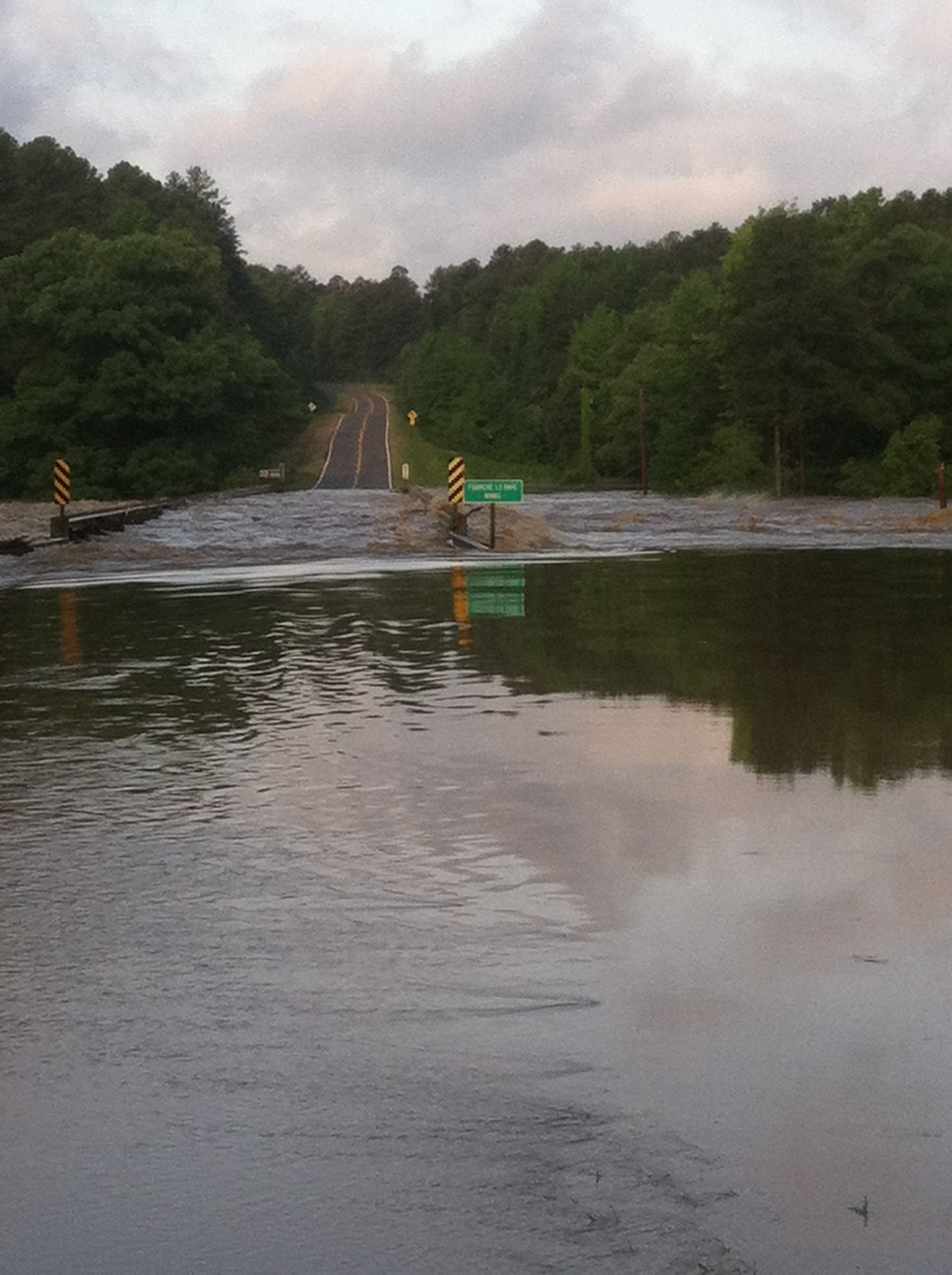 Highway 28 Fouche River near Harvey from Aaron Allen