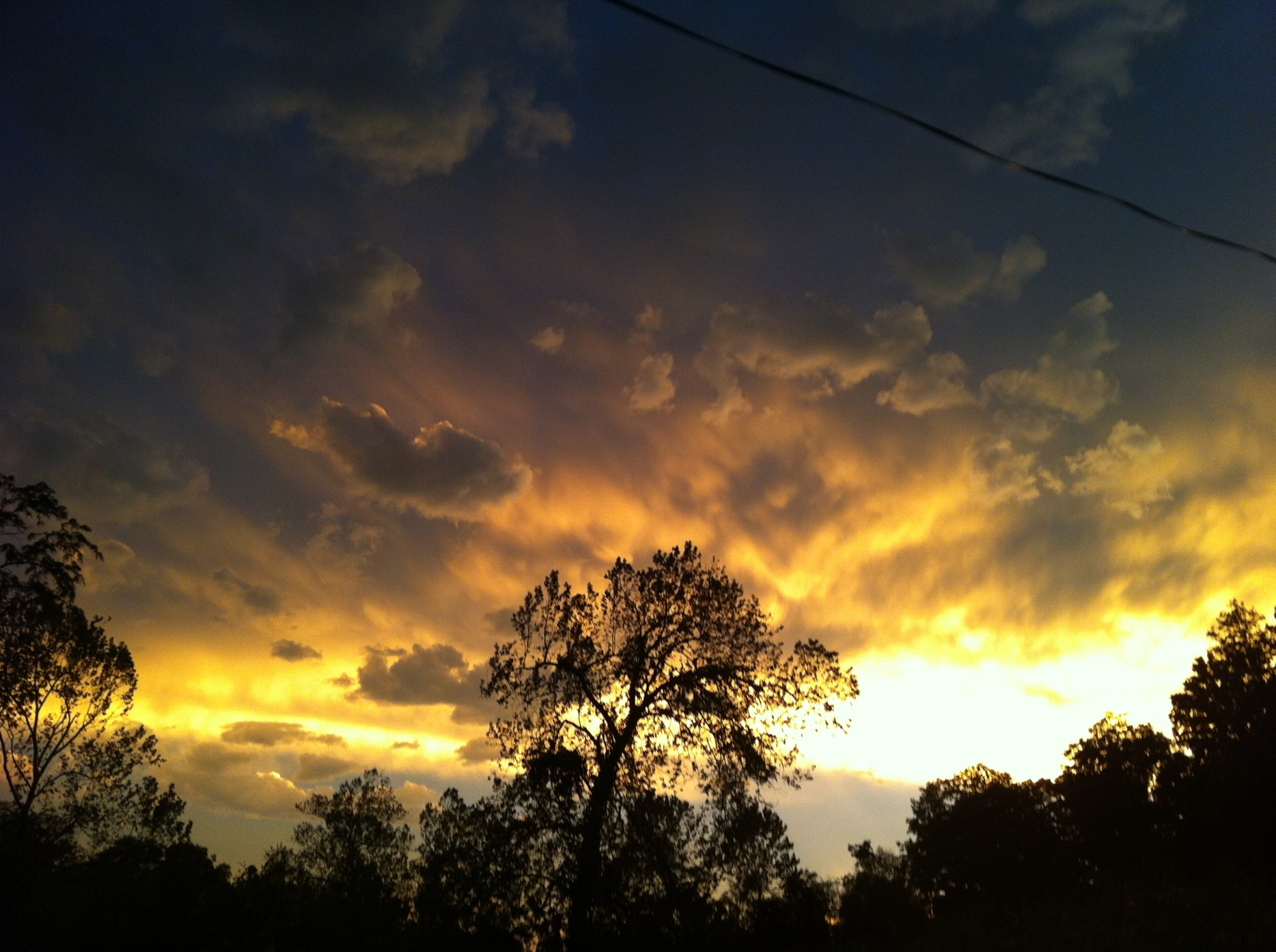 The amazing sky and sunset that followed the storms. Lincoln/Cane Hill area. Submitted by Christie McKee