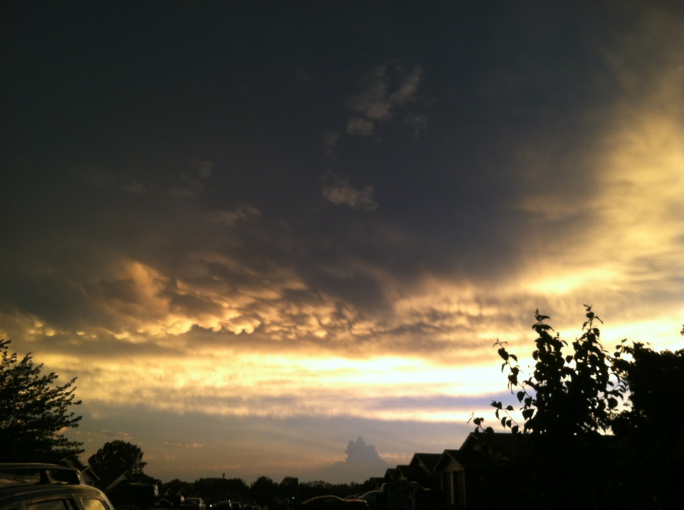 Right after the tornado storm
