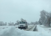 POWER TRUCKS HEADED EAST ON HWY 10 GREENWOOD DECEMBER 10 DARLENE HAYDEN GREENWOOD