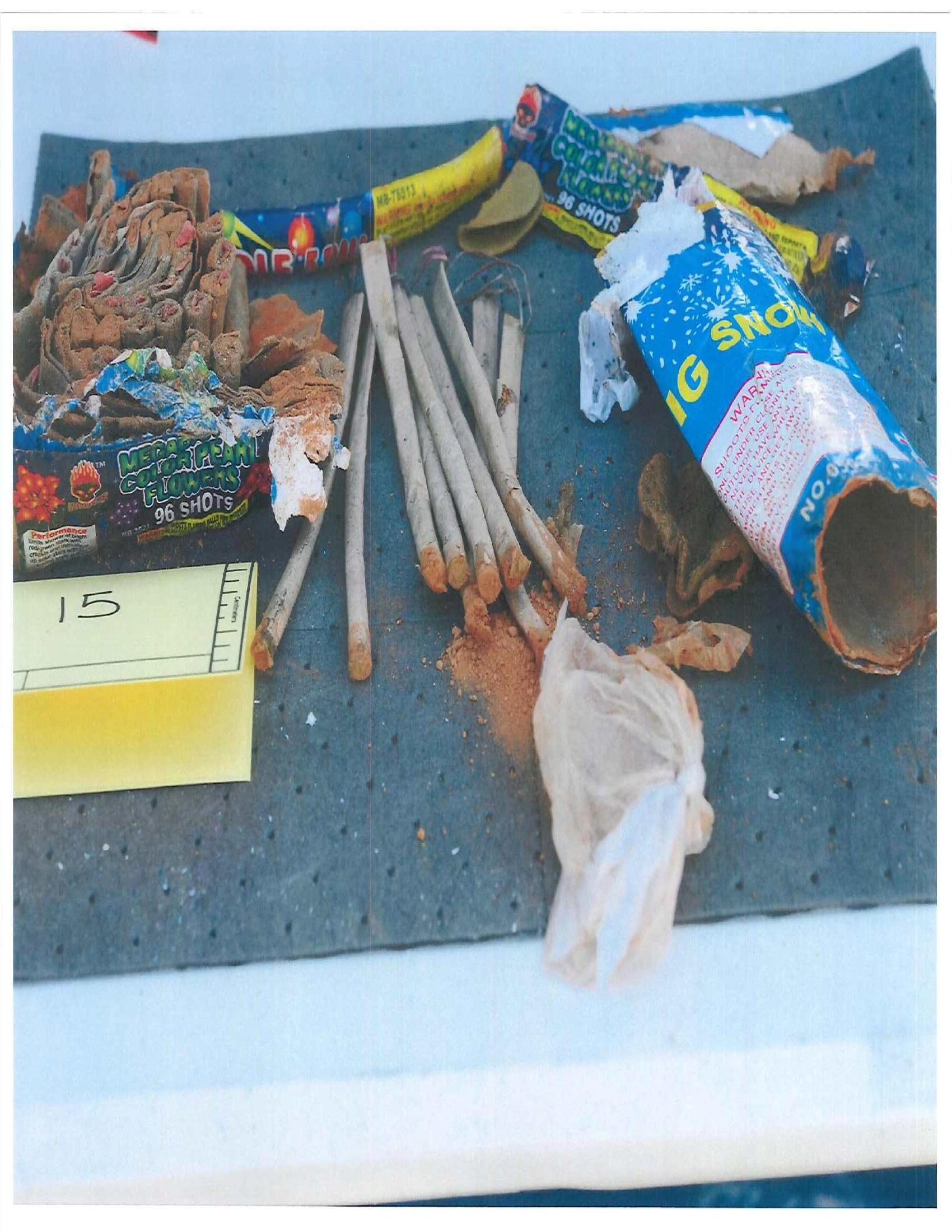 Fireworks Allegedly Disposed by Suspects