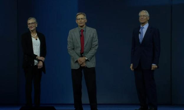 Alice, Jim and Rob Walton
