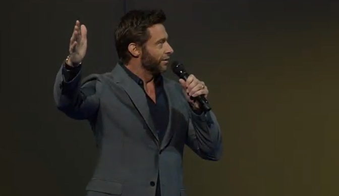 Hugh Jackman at Walmart Shareholders Meeting 2013