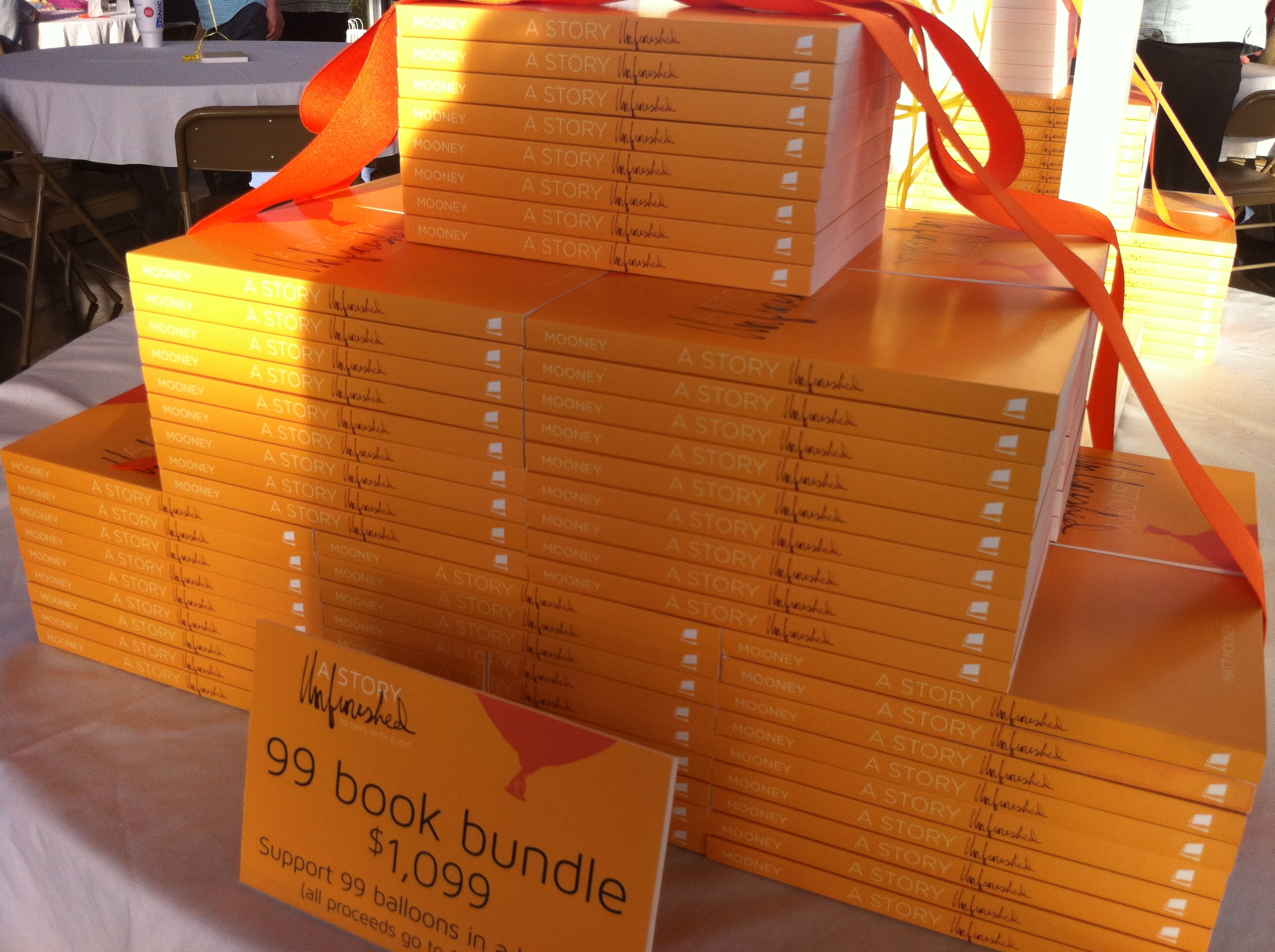 The books on display during the launch