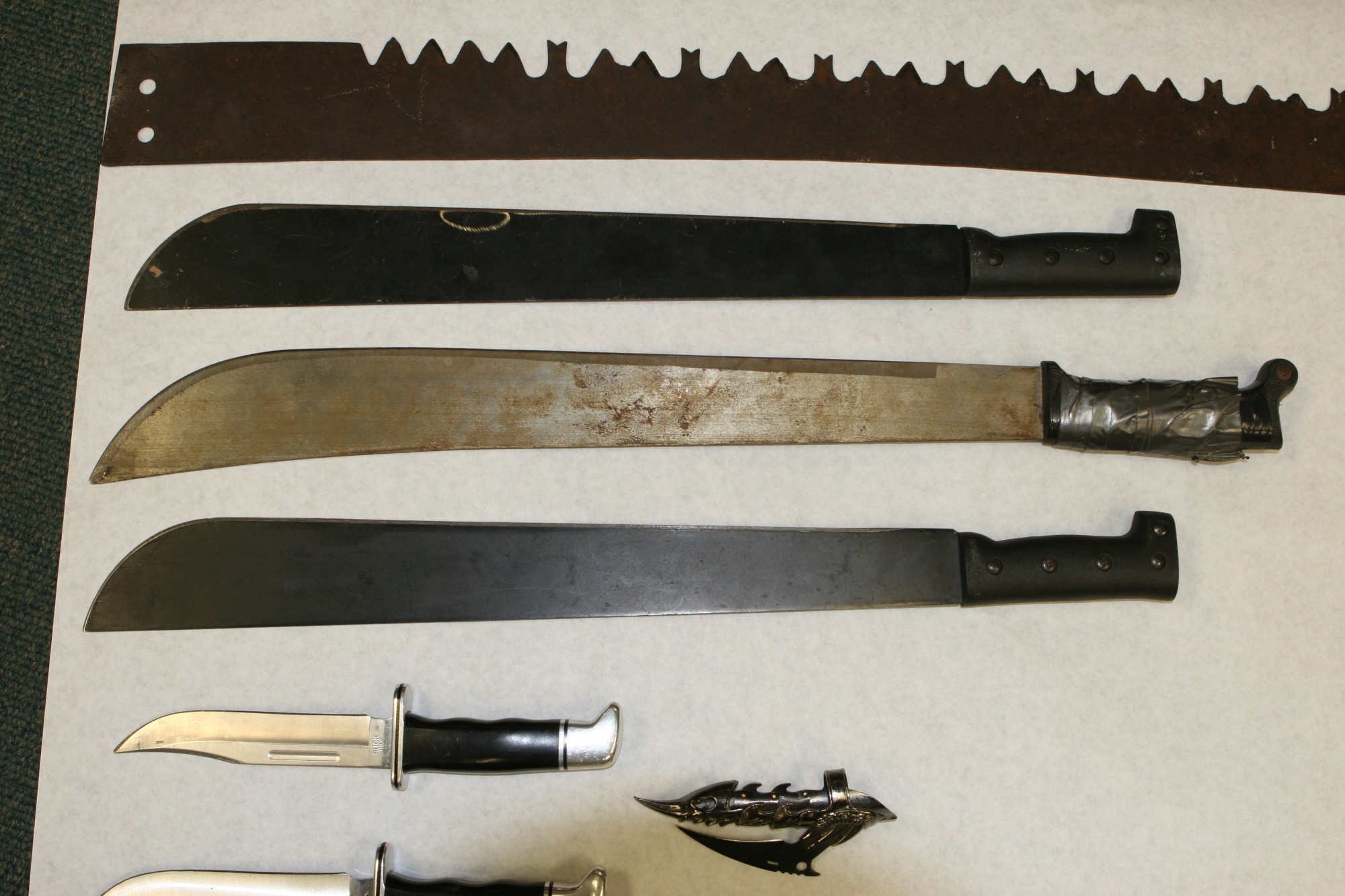 Weapons seized from Kinsey's home
