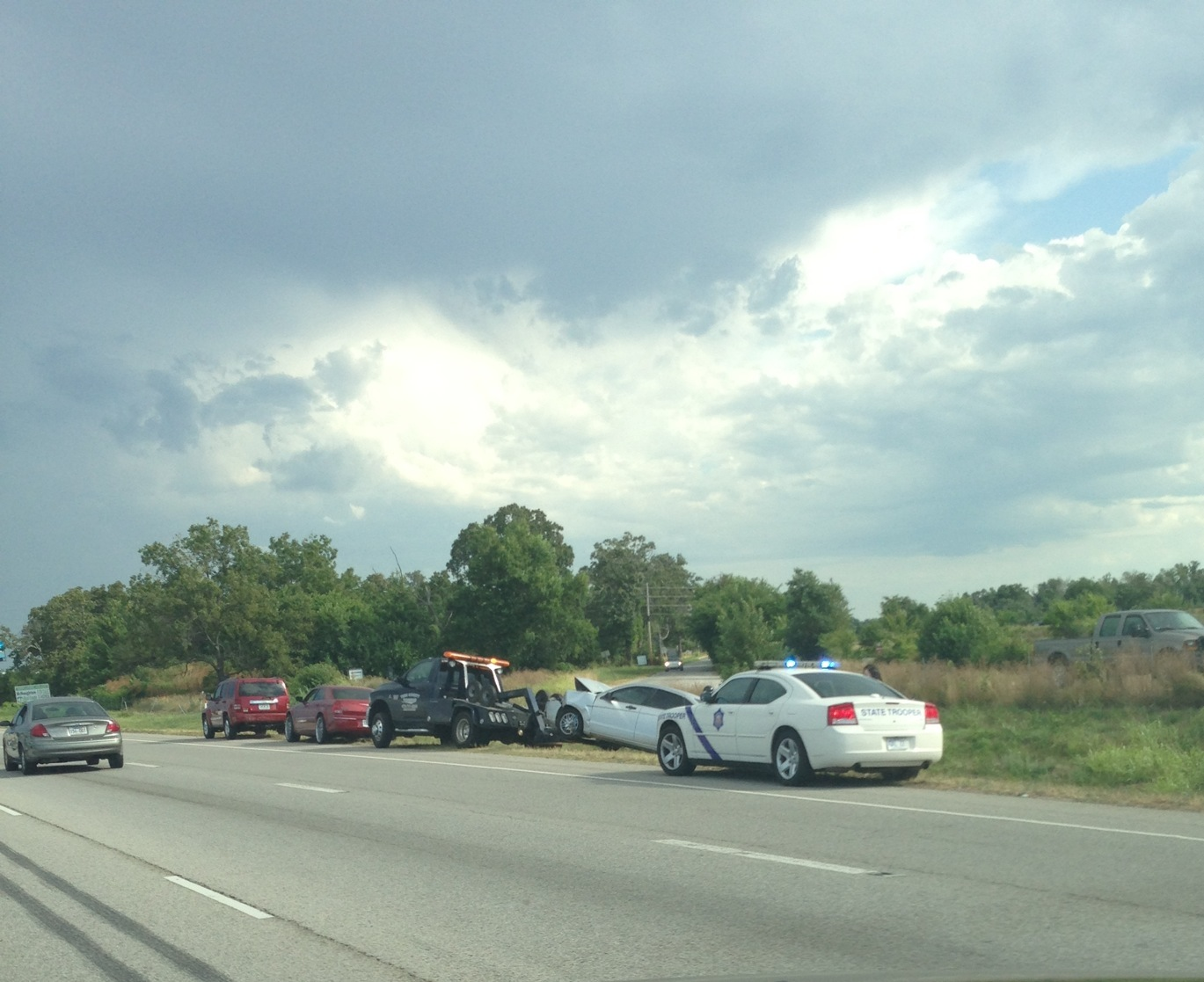 Accident near Pleasant Grove Road from Jeanette Poole
