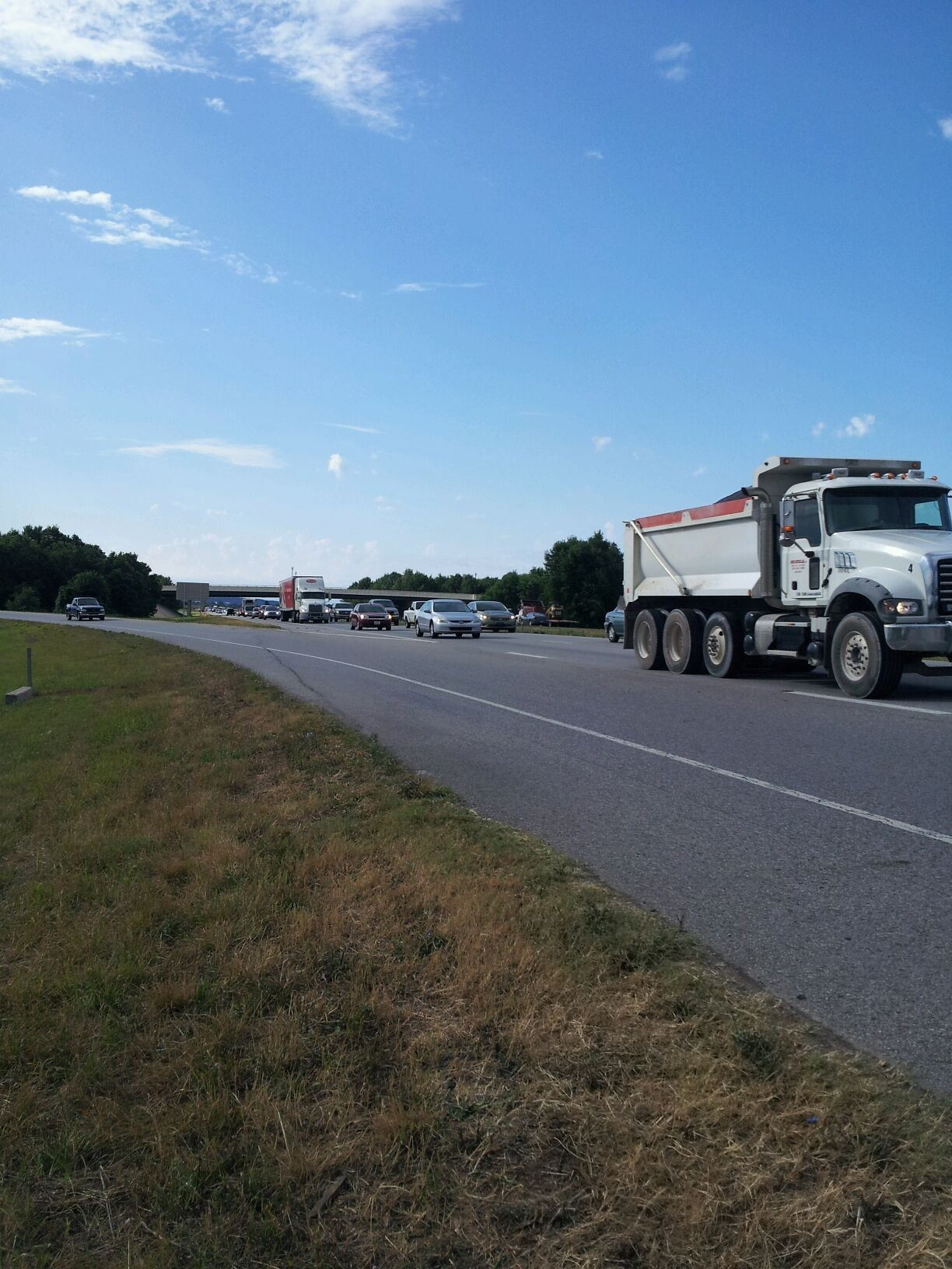 540 traffic near Exit 81 from Allison Woods