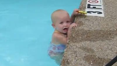 baby swimmer