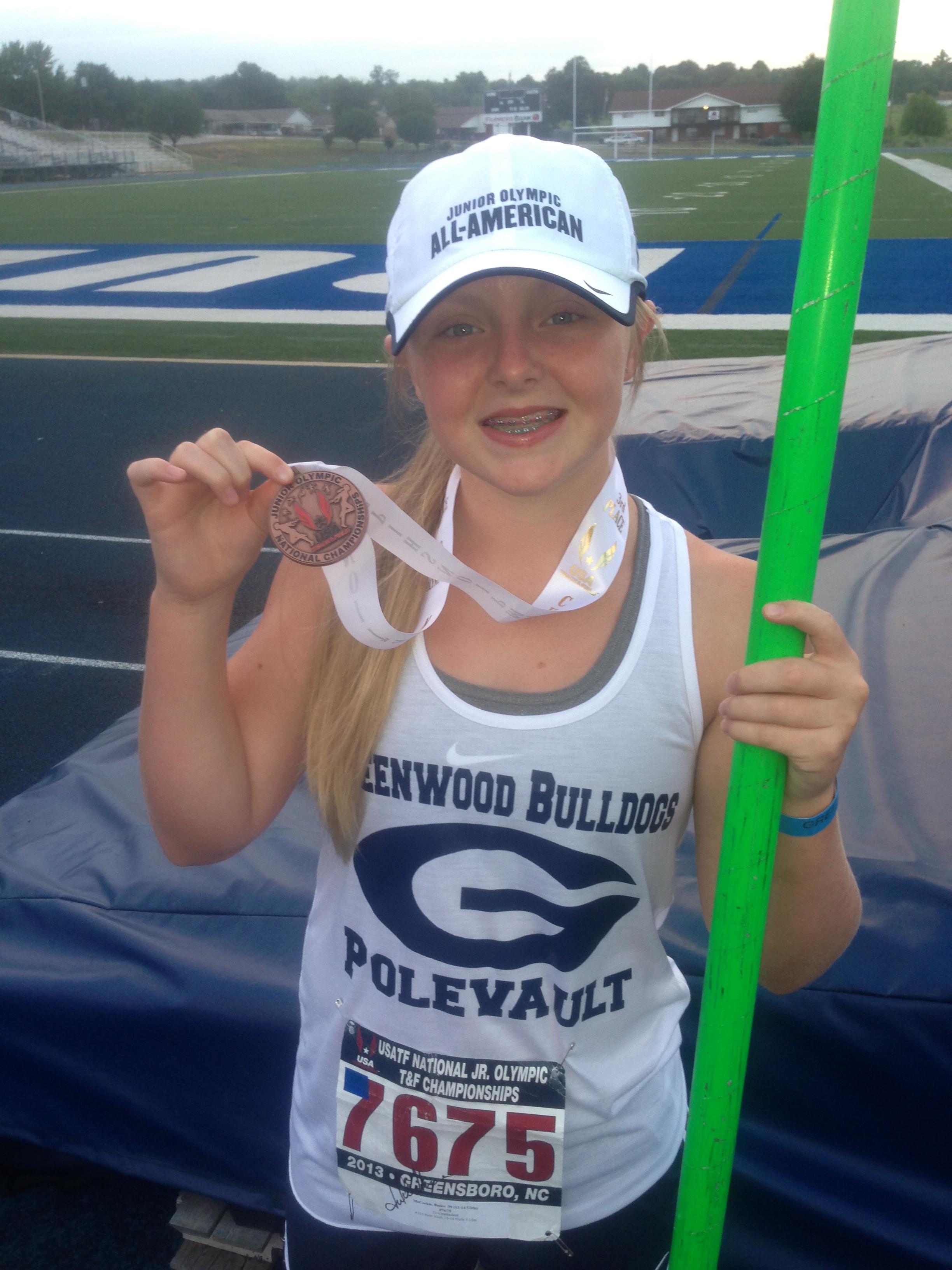 McCorkle shos off her medal