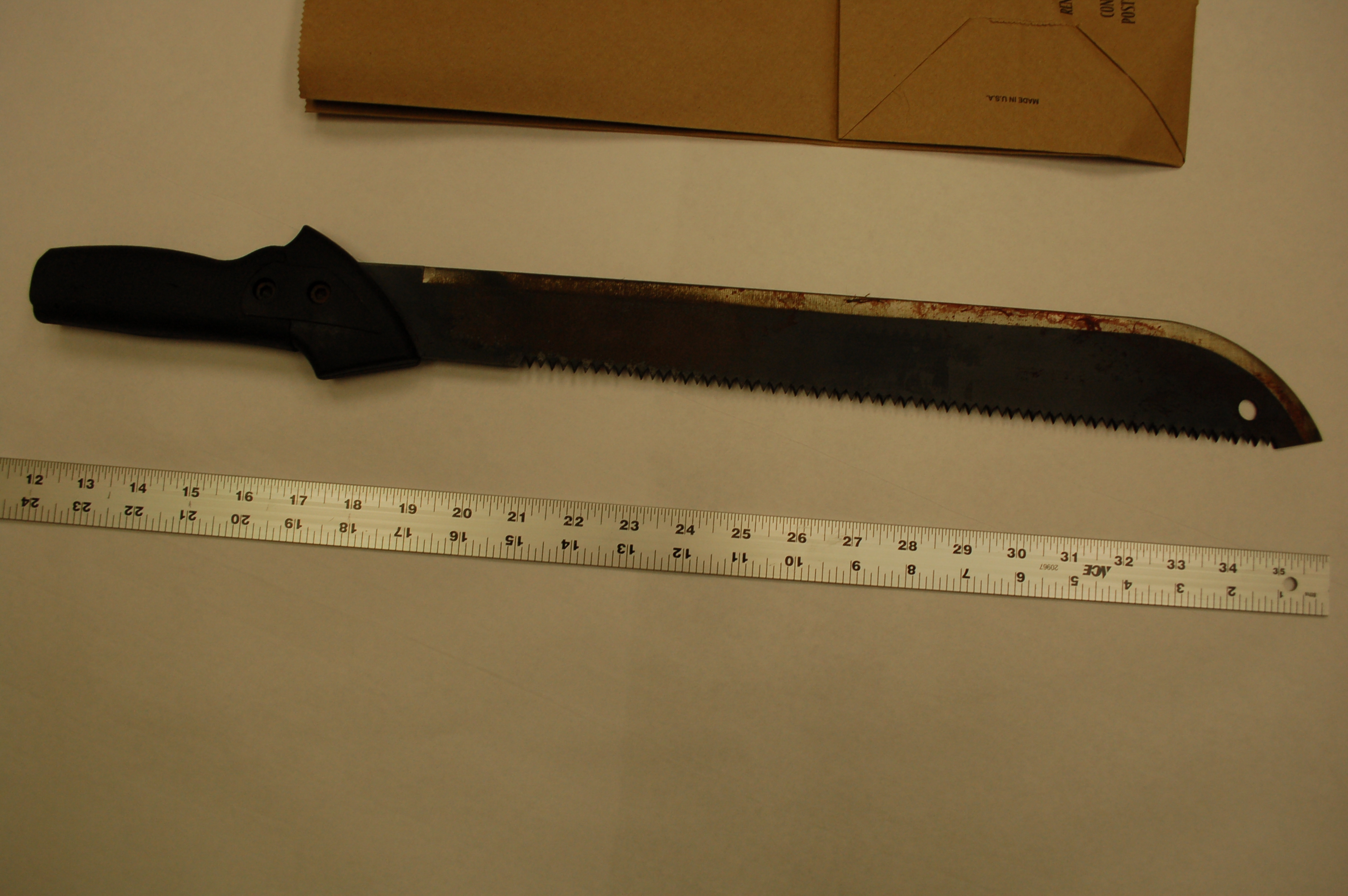 Machete Murder Case: Weapon believed to have been used during the crime