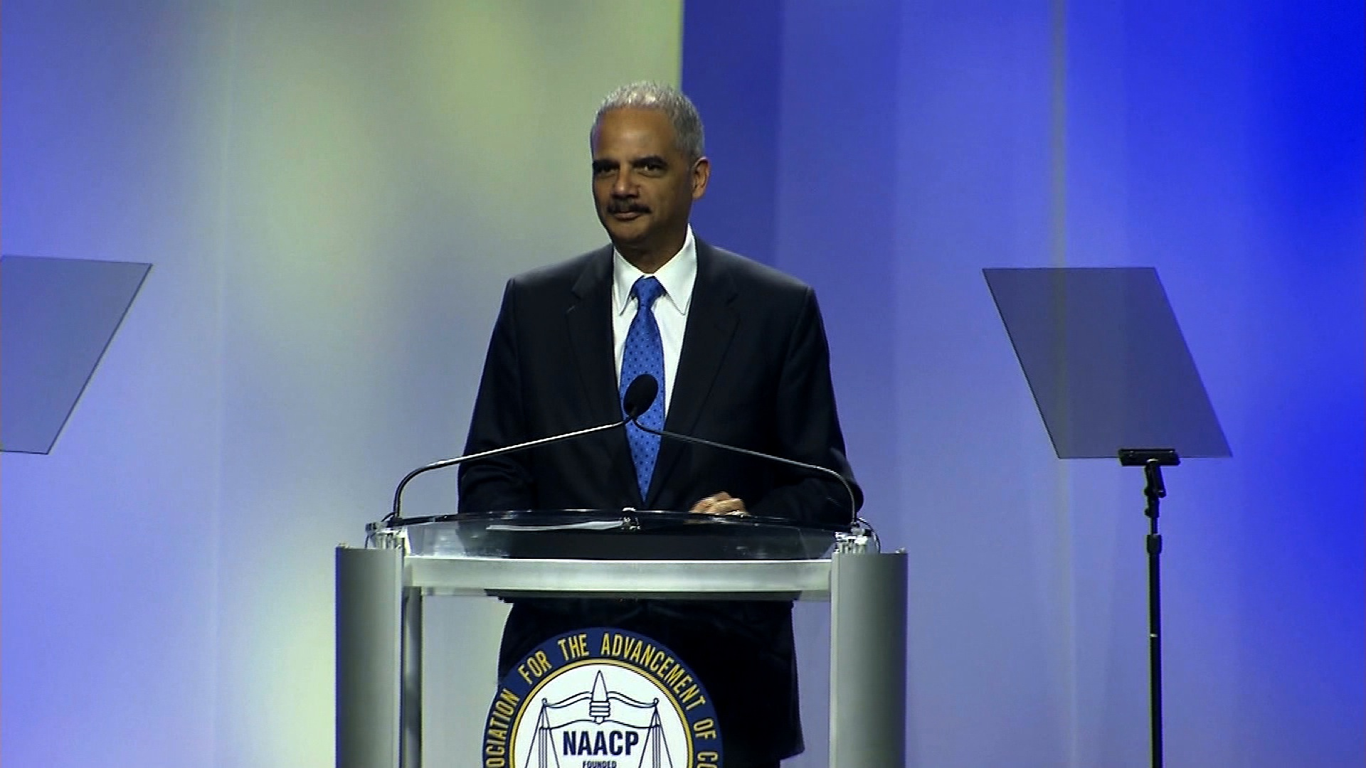 """Attorney General Eric Holder called for doing away with so-called """"stand your ground"""" self-defense laws Tuesday, July 16, 2013, telling the NAACP the statutes """"sow dangerous conflict in our neighborhoods"""" and allow """"violent situations to escalate in public."""""""