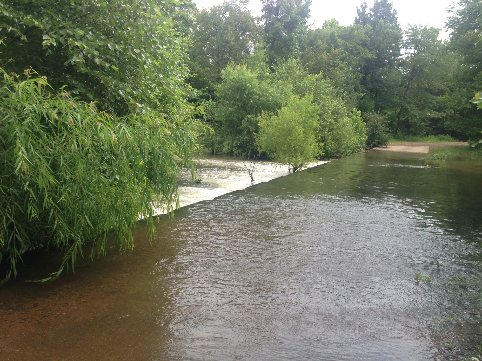 Swollen creek where woman drowned