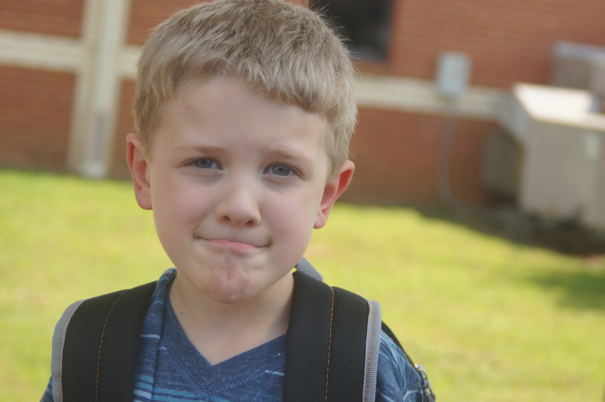 David's first day of being a 1st grader, Westwood Elementary