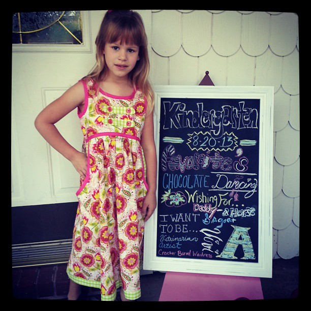 Vivi started her 1st day as an Alma Airedale Kindergartner today!