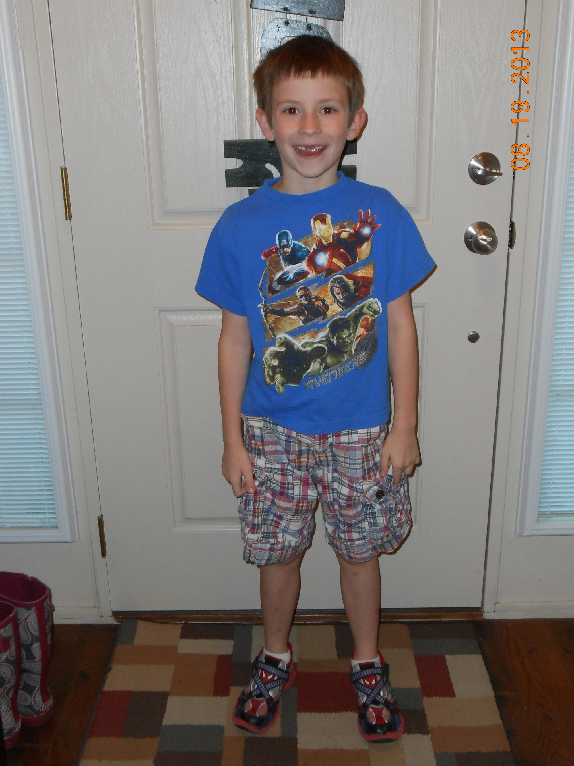 He wanted to make sure everyone knew he started school without his top two teeth.