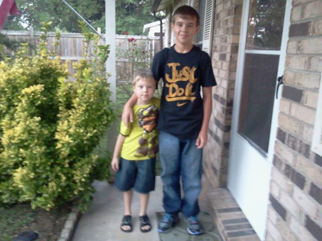 Dustin starting 7th grade. Aaron starting 1st grade.