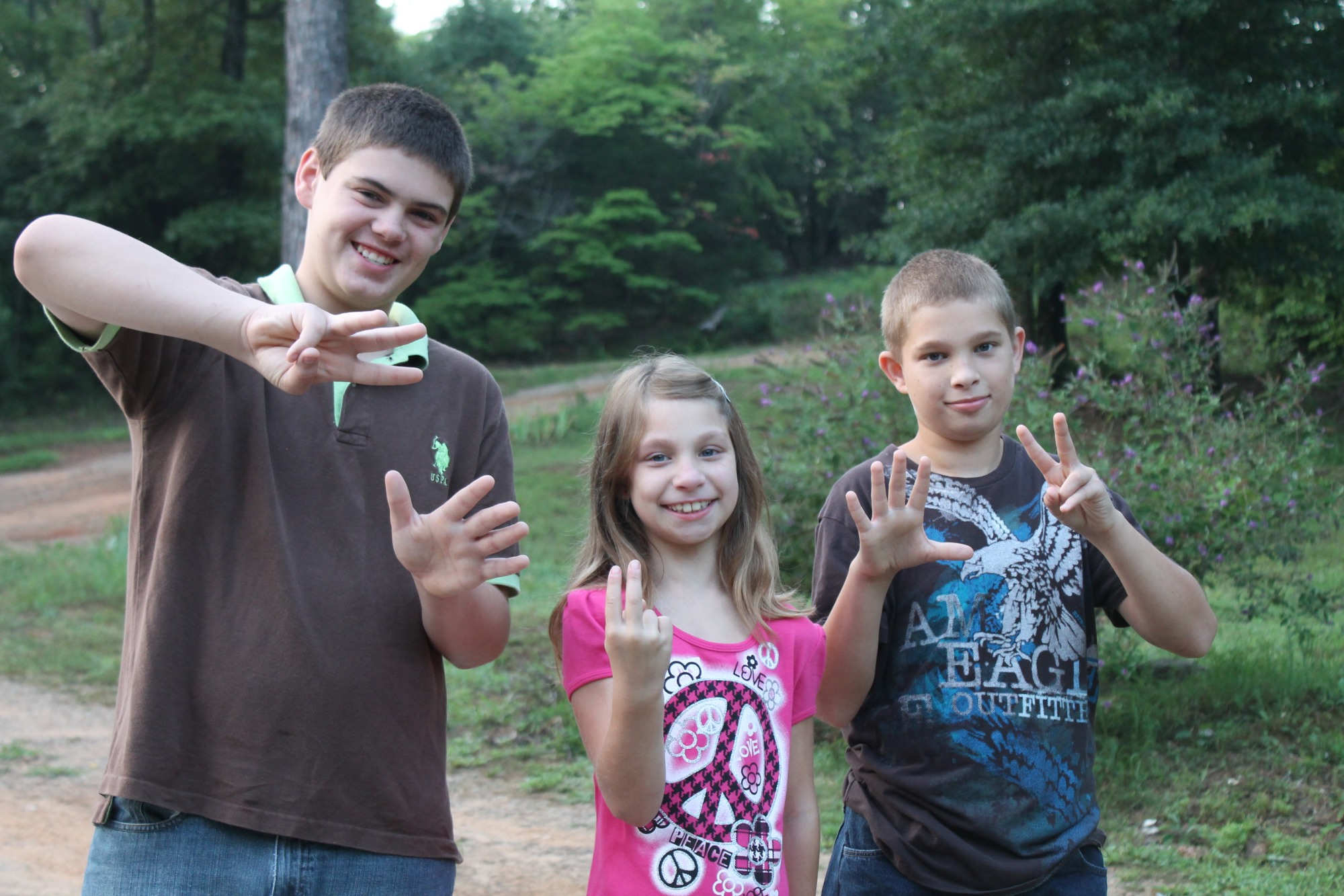 Ethan Cox 8th grade, Joshua Cox 7th grade, Hope Cox 2nd grade, Magazine School really excited for a better school year.
