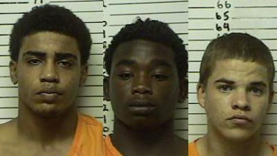 Chancey Luna, James Edwards Jr, and Michael Jones (Mug shots courtesy KFOR)
