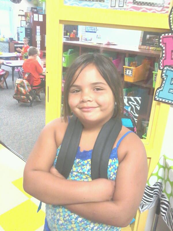 Michella's first day of 1st grade!