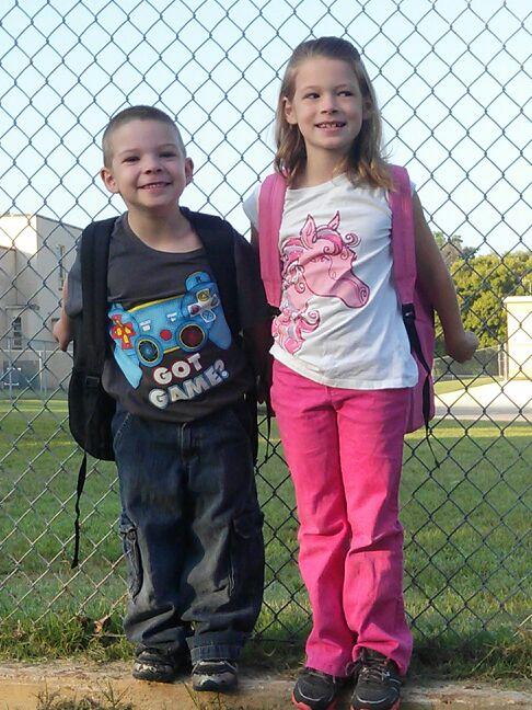 David-1st Grade,     Etta-3rd Grade