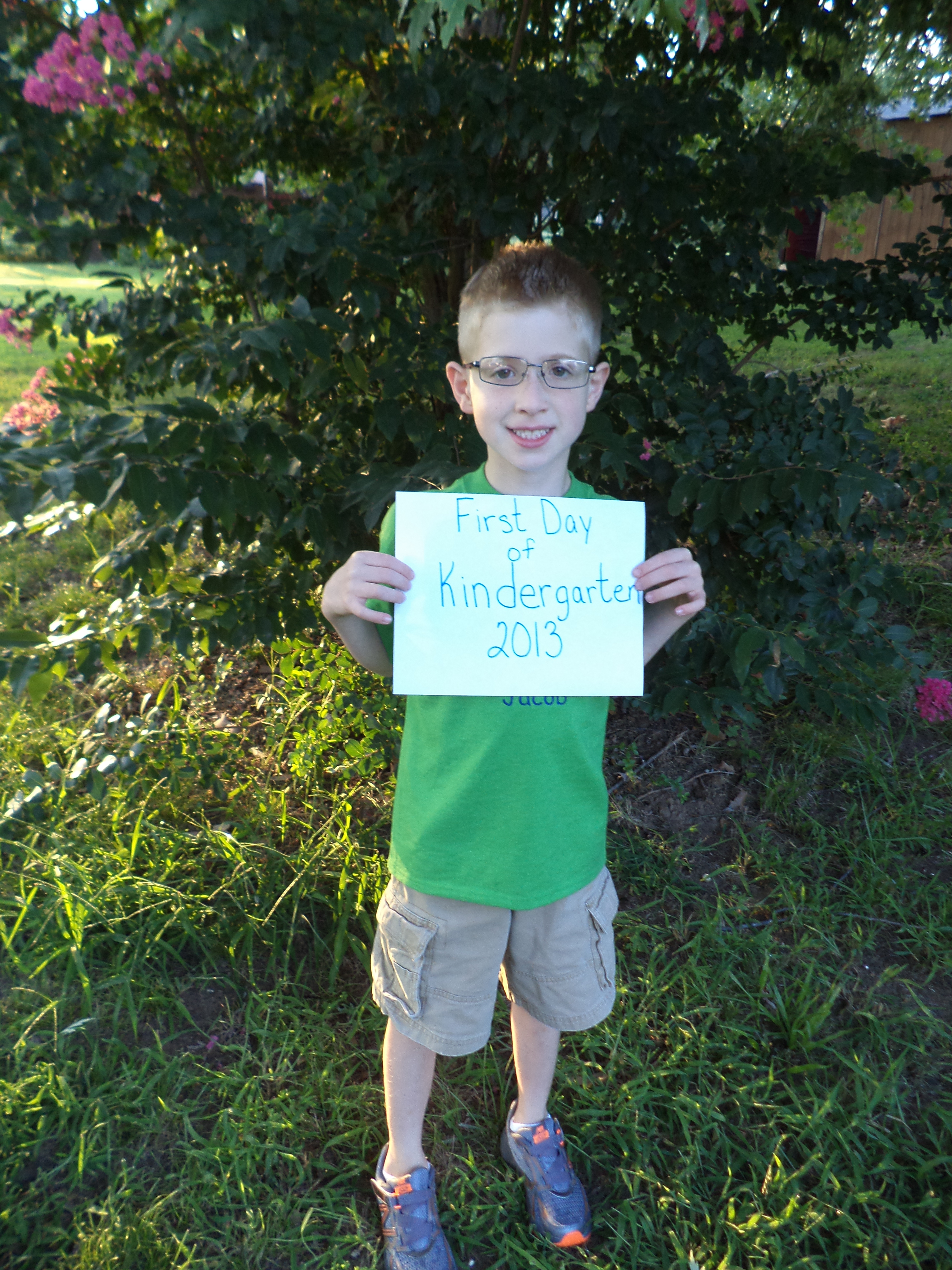 Jacob's first day of Kindergarten!