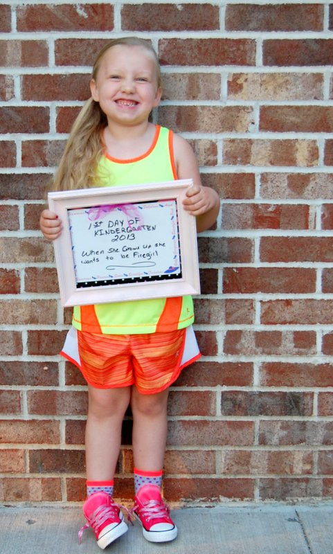 This is my grand daughter, Ireland, out the door and heading for kindergarten