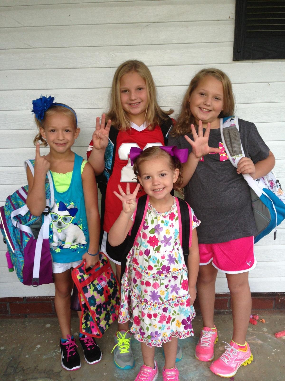 Macy, Ella, Emmy & Drew