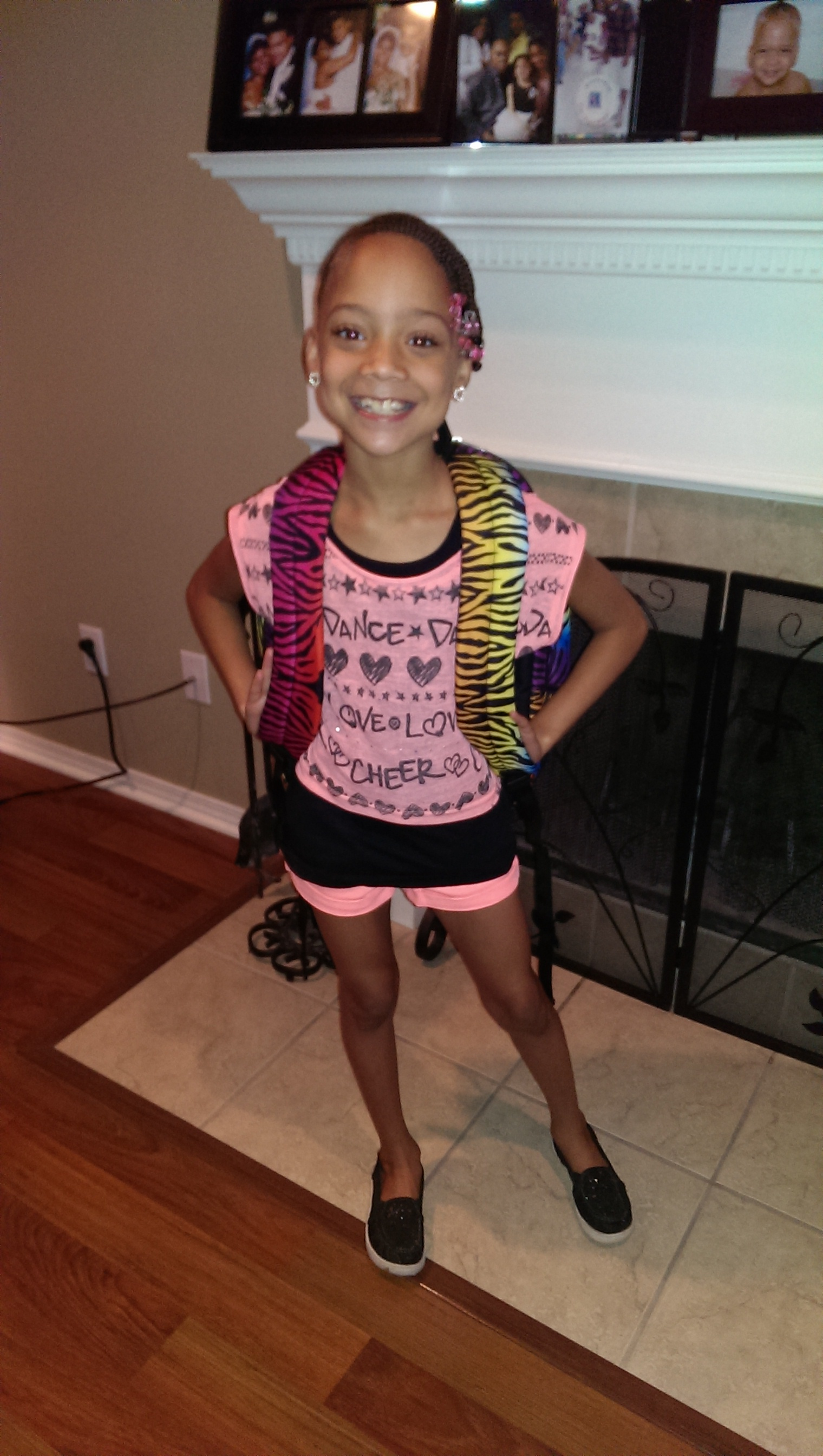 Lakeya Richardson ready for her 1st day of 3rd grade at Sutton elementary.