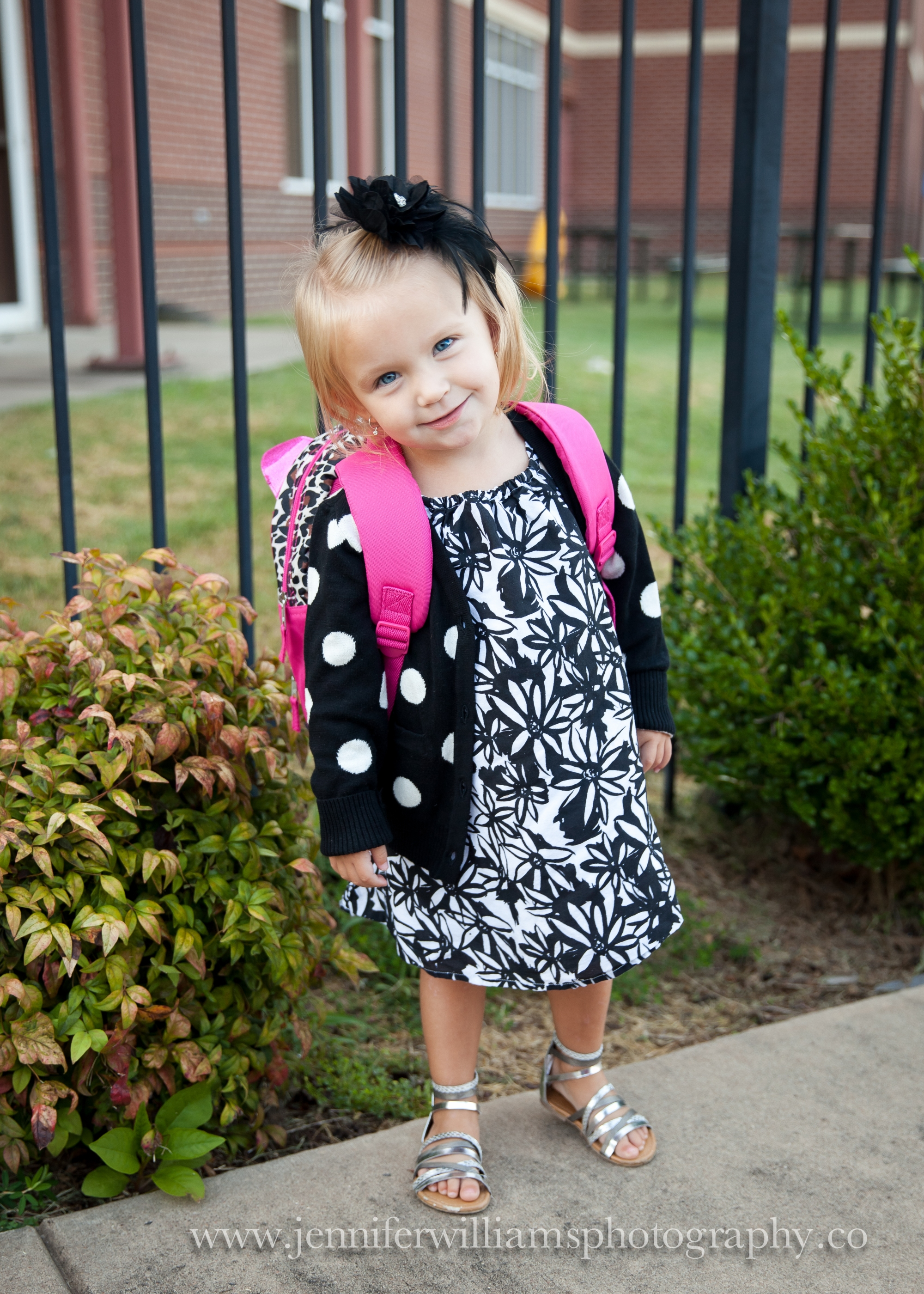 Emmalyn's 1st day back to preschool.