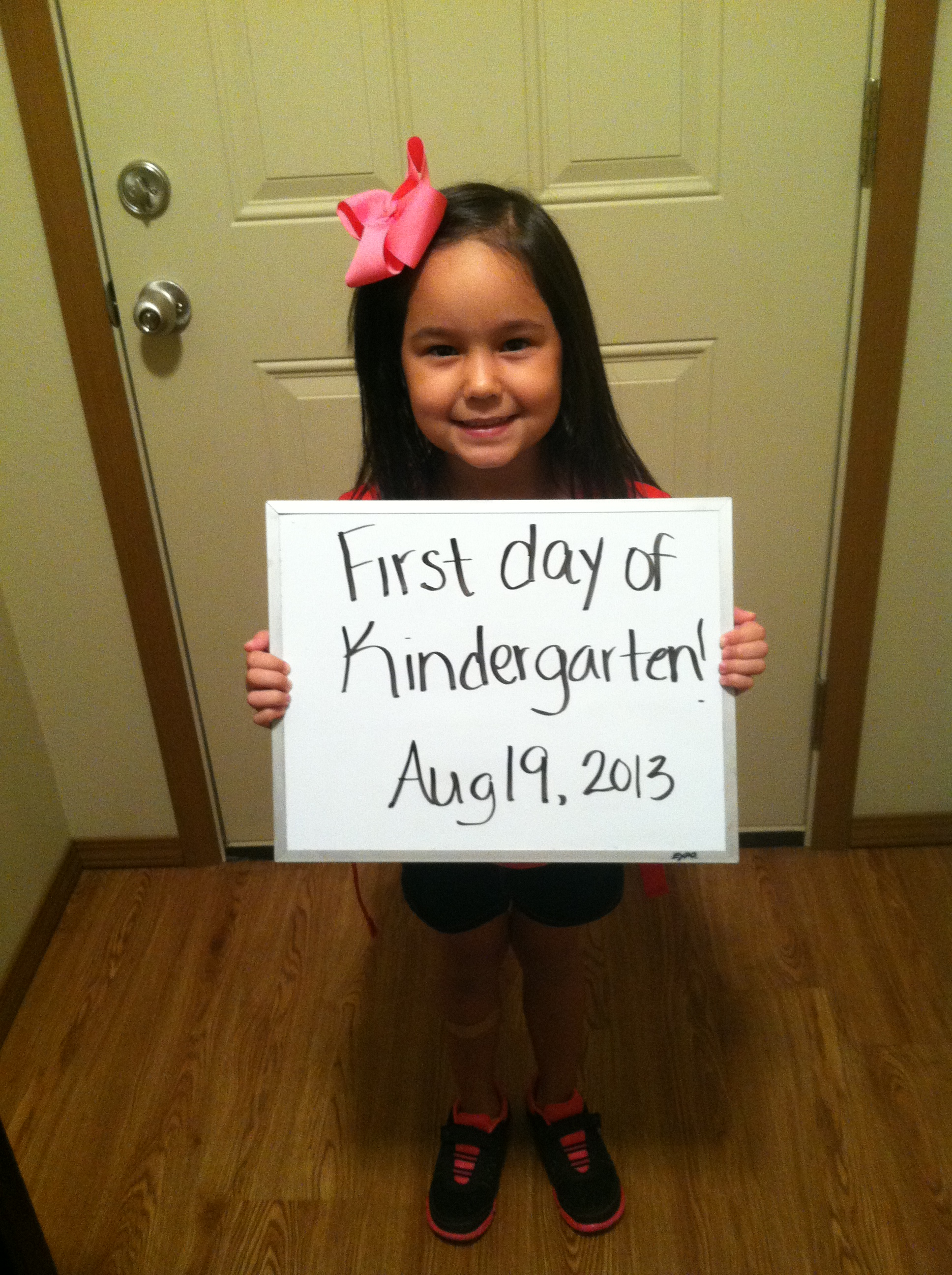 Our first day of Kindergarten!